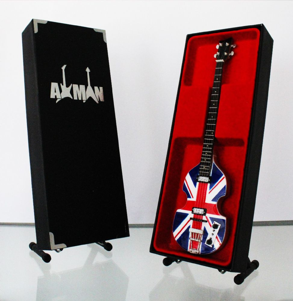 (Beatles) Paul McCartney: Union Jack Bass - Miniature Guitar Replica (UK Seller)